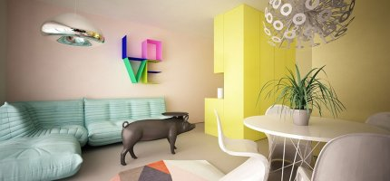 Apartament w stylu Pop Art