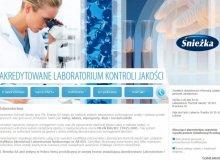 Strona internetowa Laboratorium Kontroli Jakości przy FFiL Śnieżka SA