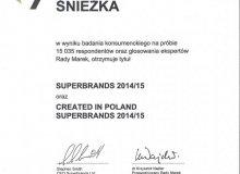 Superbrands 2014/15 dla marek Śnieżka i MAGNAT
