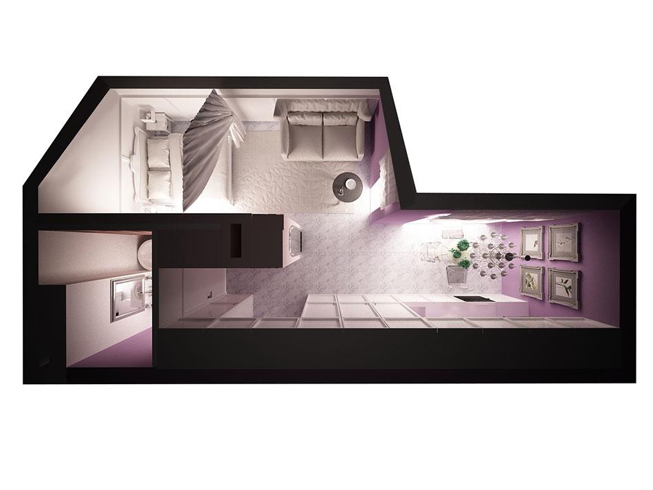 Mieszkanie wstylu glamour