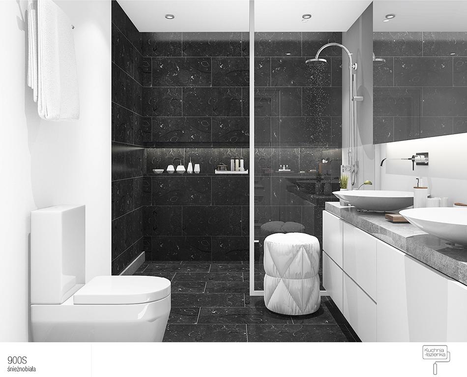 łazienka W Kolorze Białym I Czarnym 3 Nowoczesne Aranżacje