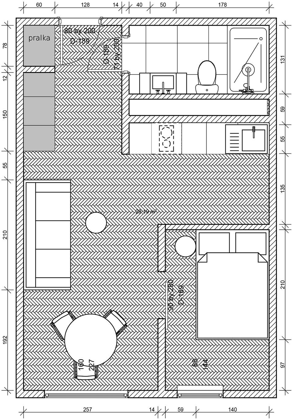 Plan mieszkania wstylu eko