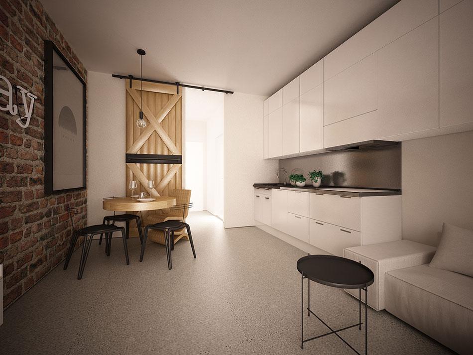 Przestrzeń kuchenna wlofcie