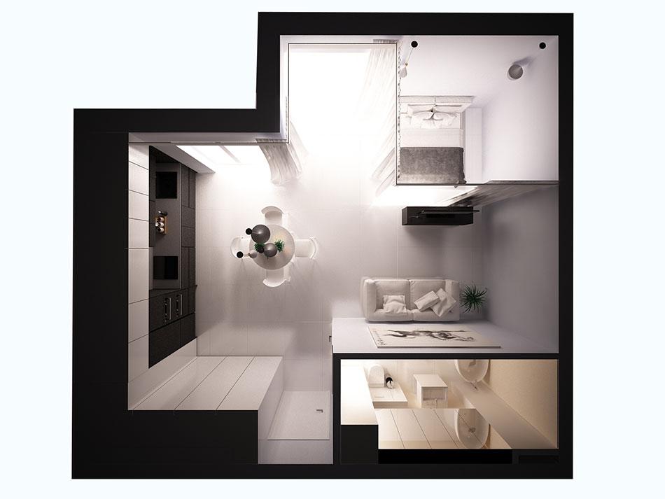 Mieszkanie wstylu minimalistycznym