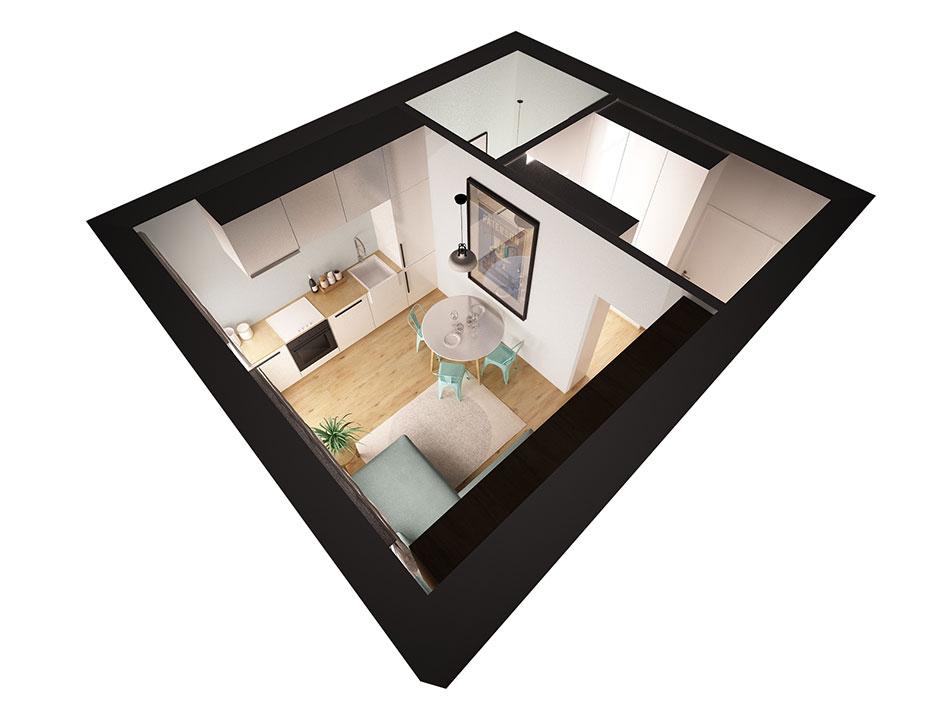 Podłoga zdesek wmieszkaniu urządzonym wstylu skandynawskim