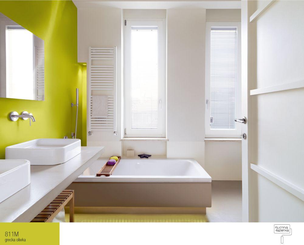 Nowoczesna łazienka w kolorach natury  Farby Śnieżka