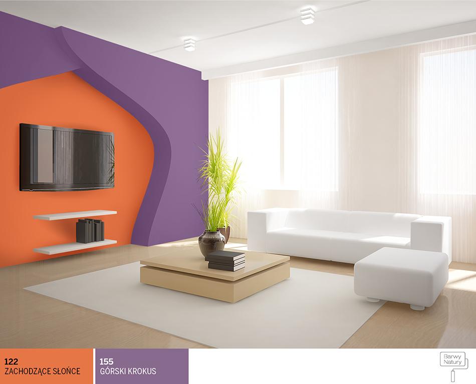 Pokój W Barwach Fioletu I Pomarańczy Najlepsze Inspiracje