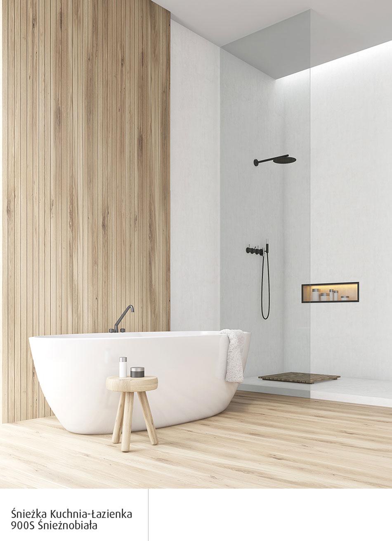 Biała łazienka Z Elementami Drewna Najlepsze Aranżacje