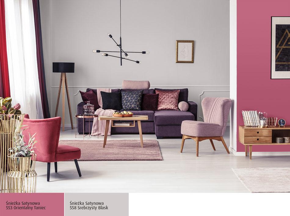 ściany W Mieszkaniu W Kolorze Fuksji Inspiracje Farby