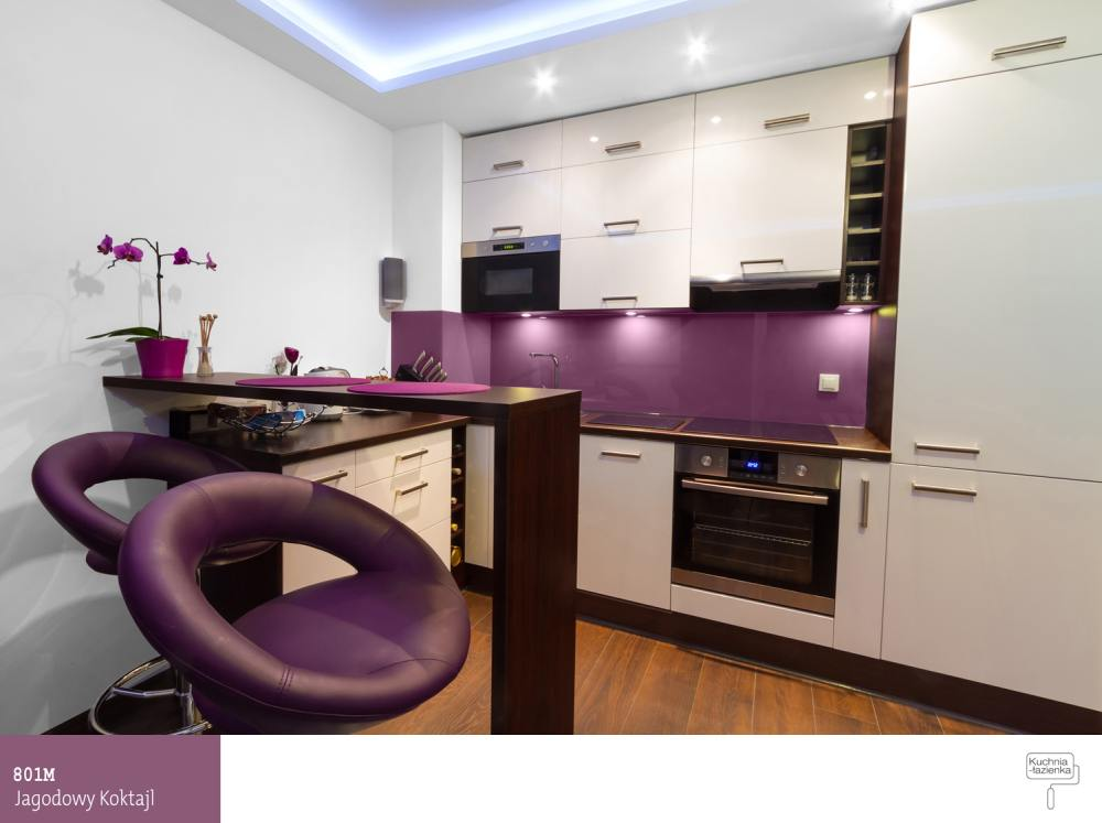 Fioletowa kuchnia od pomys u do realizacji farby nie ka - Keuken petite espace ...