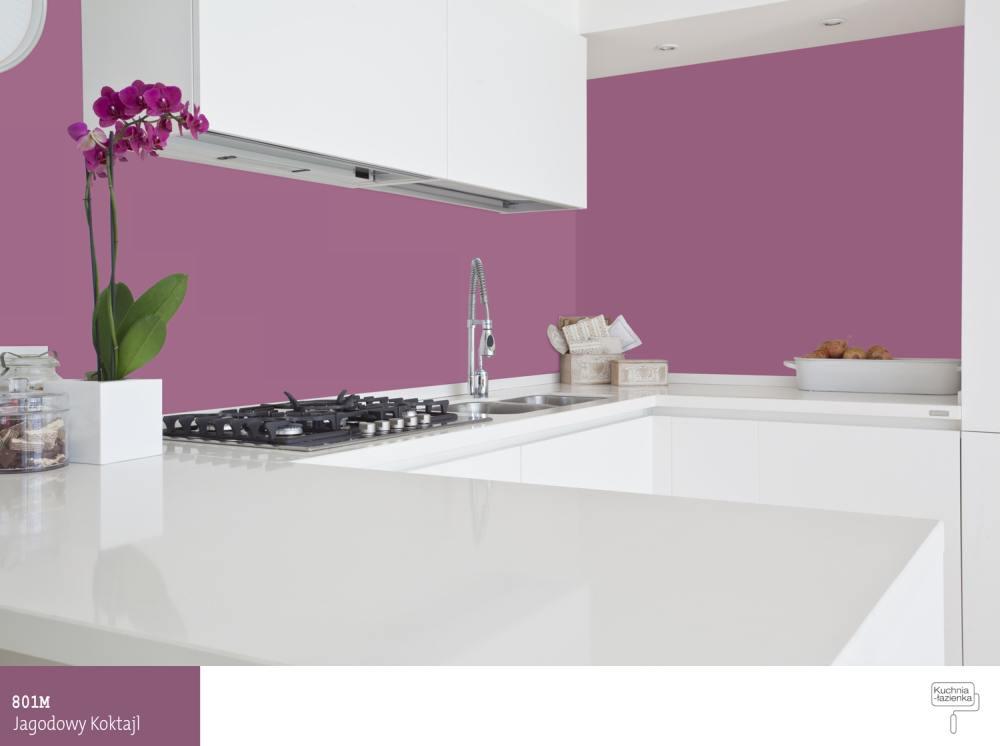Fioletowa kuchnia – od pomysłu do realizacji  Farby Śnieżka -> Kuchnia Kolory Farb