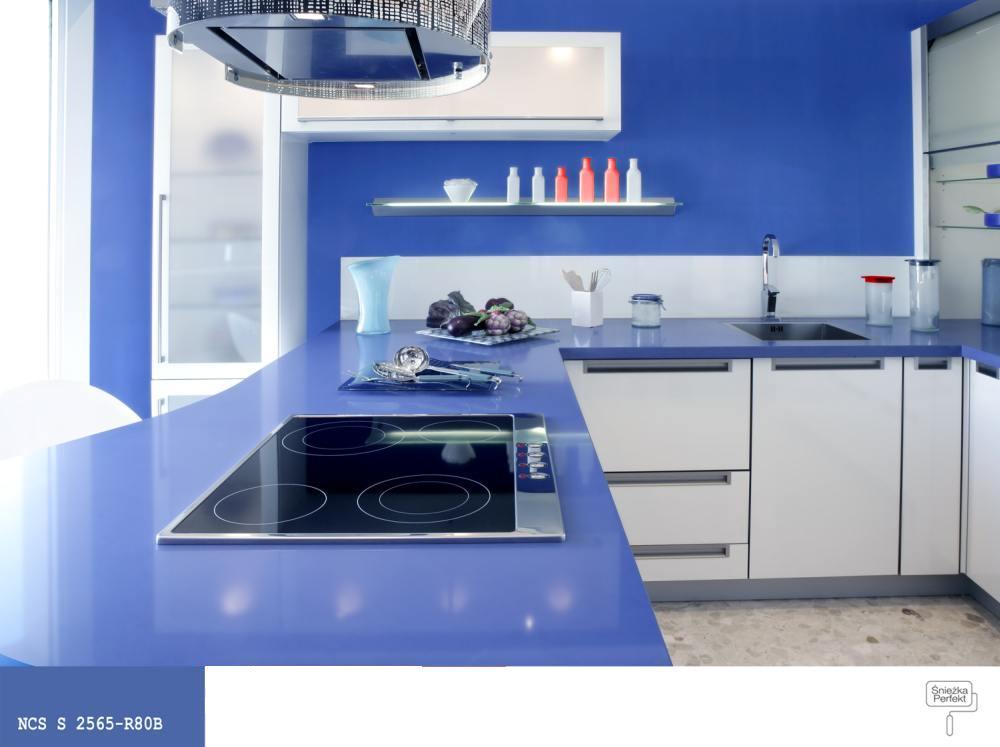 Niebieska Kuchnia Pomysl Na Stylizacje Farby Sniezka