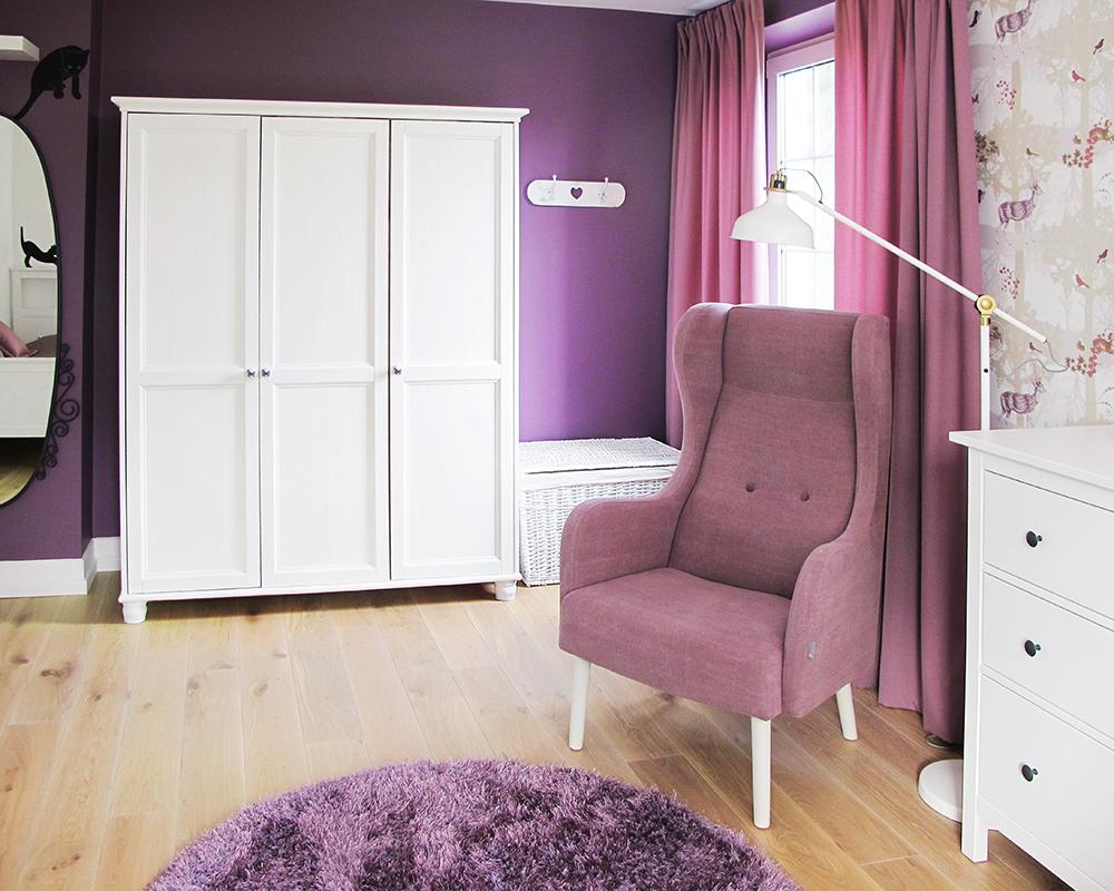 fioletowy sypialnia dla dziecka