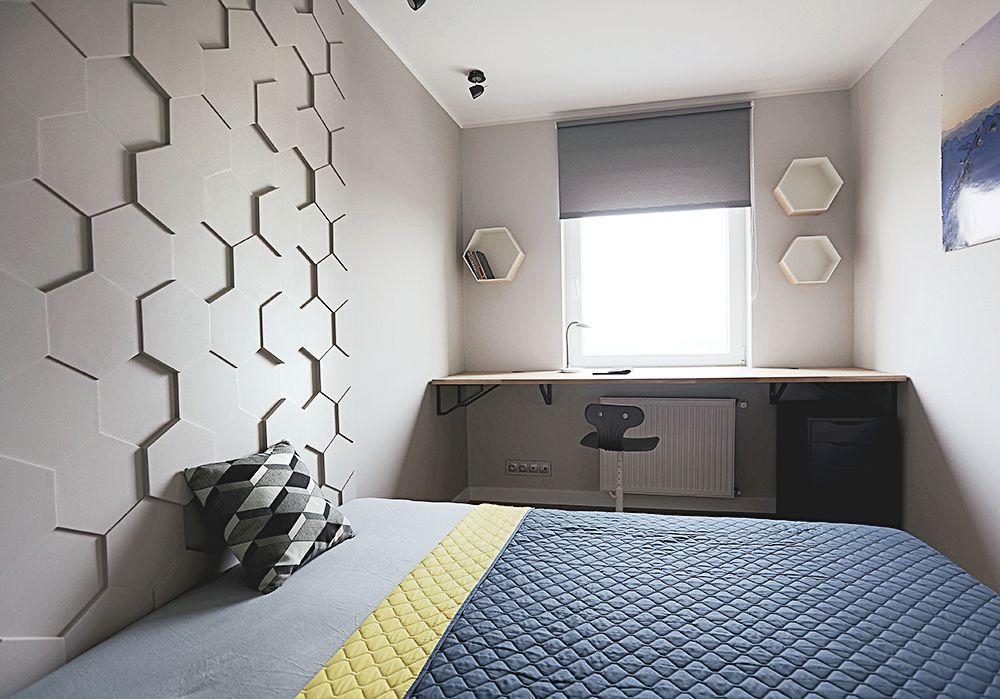 nowoczesna sypialnia imiejsce do pracy